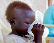 Refugee children are at high risk for disease and malnutrition
