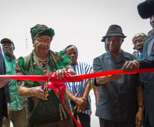 President of Liberia, Ellen Johnson-, opens the new ELWA hospital